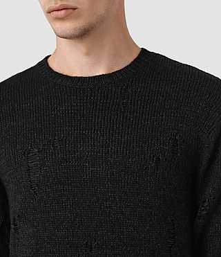 Mens Aktarr Crew Sweater (Black) - product_image_alt_text_2