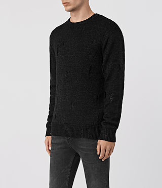 Mens Aktarr Crew Sweater (Black) - product_image_alt_text_3