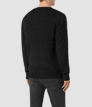Mens Aktarr Crew Sweater (Black) - product_image_alt_text_4