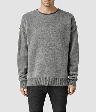 Mens Tatton Crew Sweater (Grey Marl)