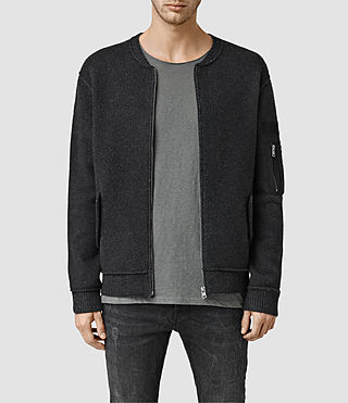 Men's Tatton Zip Through Jumper (Black)