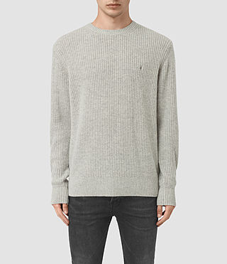 Mens Lymore Crew Jumper (Grey Marl) - product_image_alt_text_1