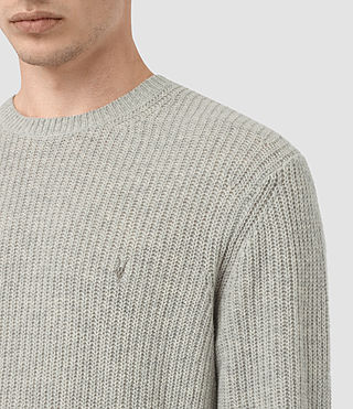 Mens Lymore Crew Jumper (Grey Marl) - product_image_alt_text_2