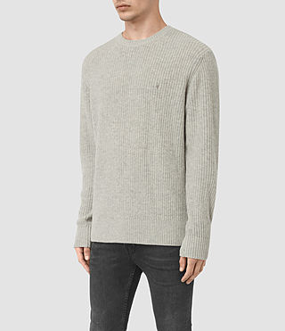 Mens Lymore Crew Jumper (Grey Marl) - product_image_alt_text_3