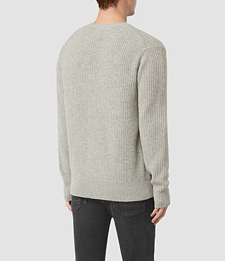 Mens Lymore Crew Jumper (Grey Marl) - product_image_alt_text_4