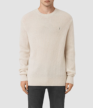 Mens Lymore Crew Sweater (Ecru)