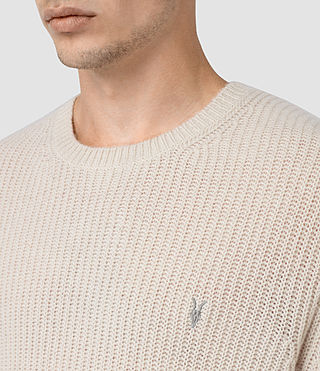 Mens Lymore Crew Sweater (Ecru) - product_image_alt_text_2