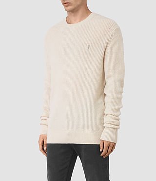 Mens Lymore Crew Sweater (Ecru) - product_image_alt_text_3