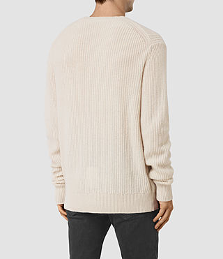 Mens Lymore Crew Sweater (Ecru) - product_image_alt_text_4
