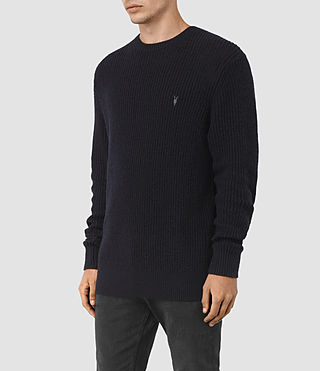Hommes Lymore Crew Jumper (INK NAVY) - product_image_alt_text_3