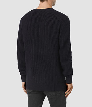 Hombre Lymore Crew Sweater (INK NAVY) - product_image_alt_text_4