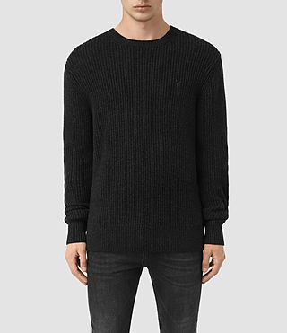 Men's Lymore Crew Jumper (Cinder Black Marl)