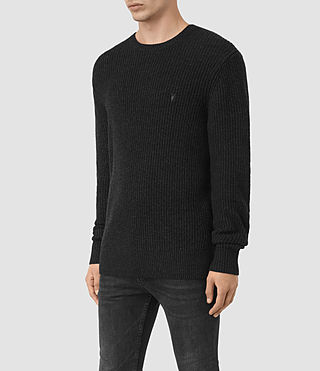 Uomo Lymore Crew Jumper (Cinder Black Marl) - product_image_alt_text_2