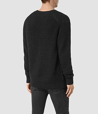 Uomo Lymore Crew Jumper (Cinder Black Marl) - product_image_alt_text_3