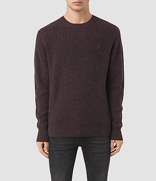 Men's Lymore Crew Jumper (DAMSON RED MARL)