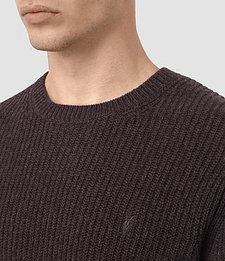 Uomo Lymore Crew Jumper (DAMSON RED MARL) - product_image_alt_text_2