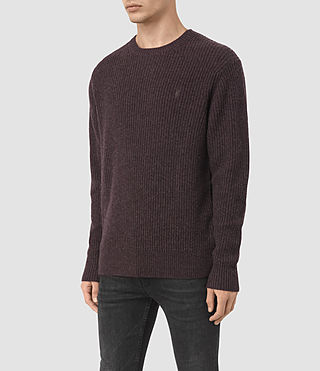 Uomo Lymore Crew Jumper (DAMSON RED MARL) - product_image_alt_text_3