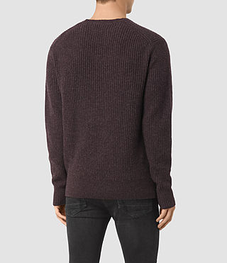 Uomo Lymore Crew Jumper (DAMSON RED MARL) - product_image_alt_text_4