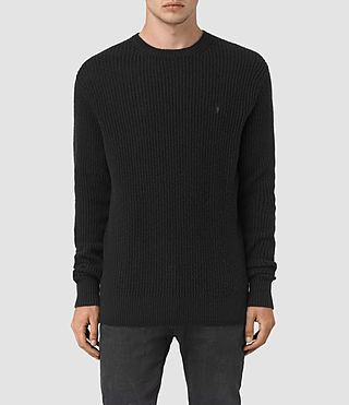 Hombre Lymore Crew Sweater (Black) - product_image_alt_text_1