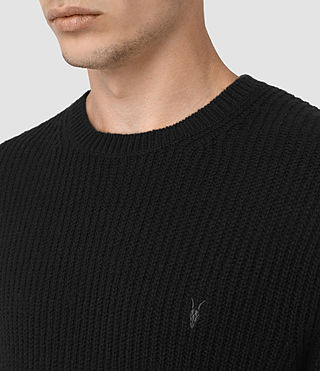 Mens Lymore Crew Sweater (Black) - product_image_alt_text_2