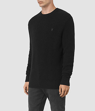 Mens Lymore Crew Sweater (Black) - product_image_alt_text_3