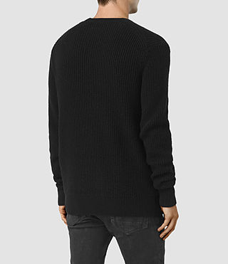 Mens Lymore Crew Sweater (Black) - product_image_alt_text_4