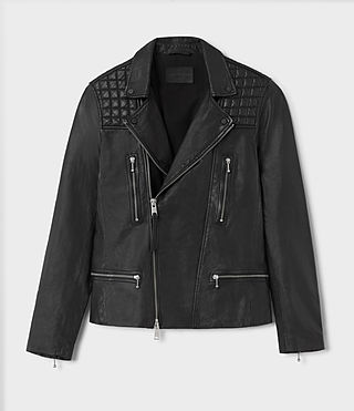 Hombre Rowley Leather Biker (Black) - product_image_alt_text_4