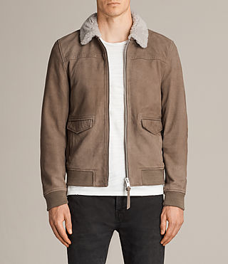 leader aviator leather jacket