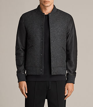 Mens Marley Bomber Jacket (CHARCOAL GRY/BLACK) - Image 1