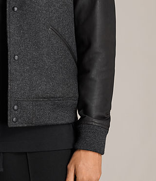 Mens Marley Bomber Jacket (CHARCOAL GRY/BLACK) - Image 3
