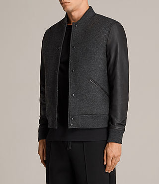 Mens Marley Bomber Jacket (CHARCOAL GRY/BLACK) - Image 6