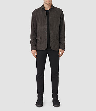 Mens Yuki Suede Blazer (ANTHRACITE GREY)