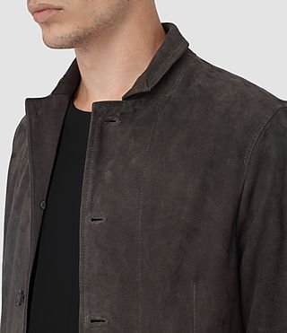 Mens Yuki Suede Blazer (ANTHRACITE GREY) - product_image_alt_text_2