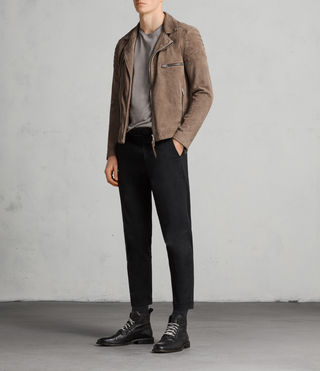 giacca theo biker suede