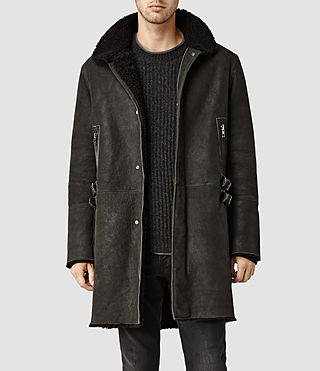Men's Bretley Shearling Parka Jacket (Carbon)