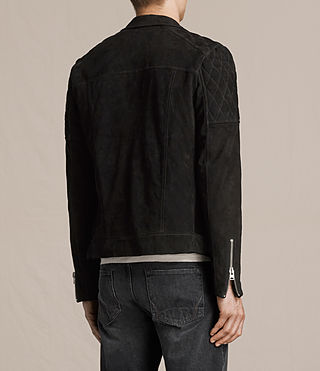 Mens Bonson Suede Biker Jacket (Washed Black) - product_image_alt_text_7