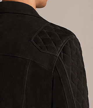 Men's Kitsir Suede Biker Jacket (Washed Black) - product_image_alt_text_5