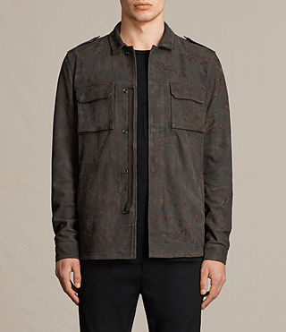 Mens Tackton Suede Shirt (GRAPHITE GREY) - product_image_alt_text_1