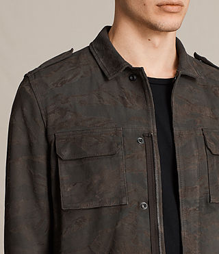 Herren Tackton Suede Shirt (GRAPHITE GREY) - product_image_alt_text_2