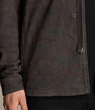 Herren Tackton Suede Shirt (GRAPHITE GREY) - product_image_alt_text_5