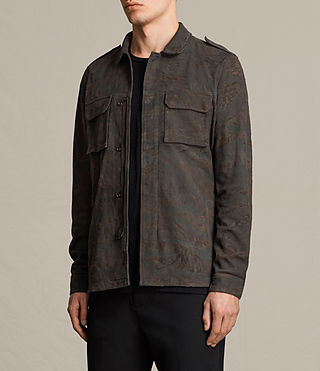 Herren Tackton Suede Shirt (GRAPHITE GREY) - product_image_alt_text_6