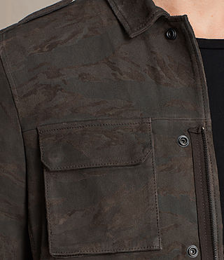 Herren Tackton Suede Shirt (GRAPHITE GREY) - product_image_alt_text_7