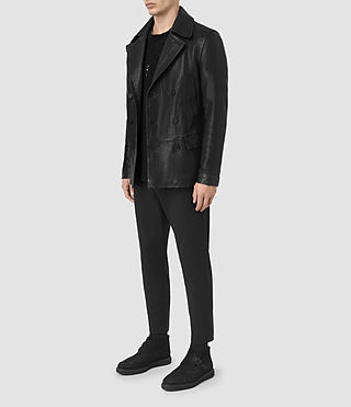 Hombre Tilson Leather Coat (Black) - product_image_alt_text_2