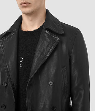 Hombre Tilson Leather Coat (Black) - product_image_alt_text_3