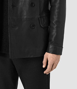 Hombre Tilson Leather Coat (Black) - product_image_alt_text_4