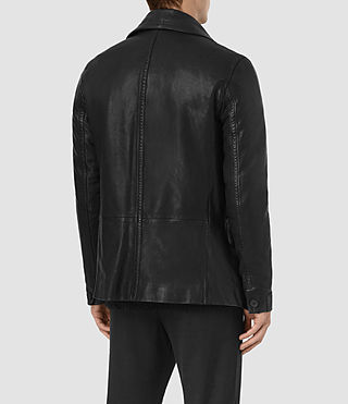 Hombre Tilson Leather Coat (Black) - product_image_alt_text_5
