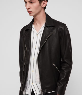 Ezra Leather Biker Jacket