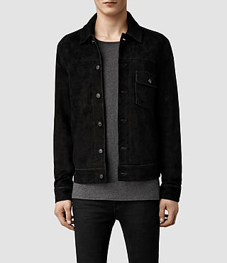 Men's Alder Leather Jacket (Washed Black)