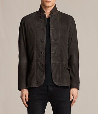 Uomo Merson Leather Blazer (ANTHRACITE GREY)