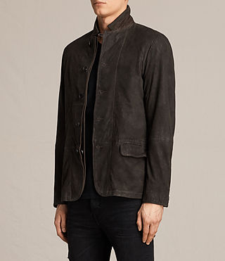 Uomo Merson Leather Blazer (ANTHRACITE GREY) - product_image_alt_text_3